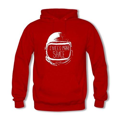 HKdiy I Need More Space Custom Men's Printed Hoodie Red-2