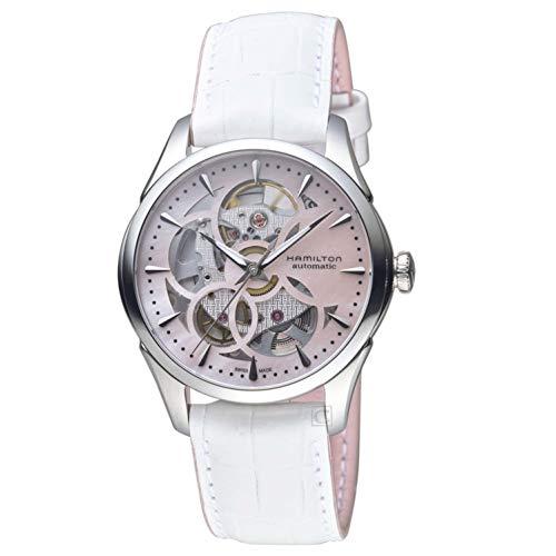 Hamilton Femme 36mm Bracelet Cuir Blanc Saphire Automatique Montre H32405871