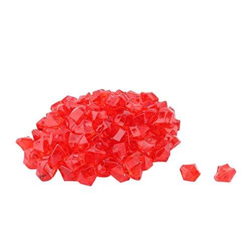 um Aquarium Vase Irregular Eis Felsen Streuungen Dekorative Stein 110pcs Red ()