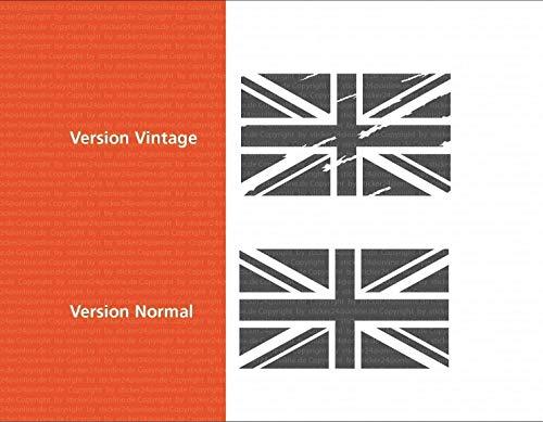 Flagge Union Jack Aufkleber / 10, 15 oder 20 cm, Great Britain Sticker für Motorrad, Camper Bus Offroad 4x4 Wohnmobil Boot oder Geländewagen -