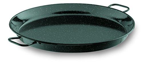 Lacor 60161 - Paellera esmaltada, 60 cm, negro