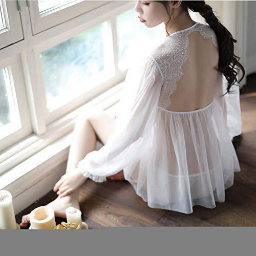 Fee Kostüm Sexy Dessous Damen - Fun-Unterwäsche Erotische Kostüme Für Damen Sexy Dessous Spitze Fee Sexy Dessous Sexy Nachthemd, Weiß, Einheitsgröße