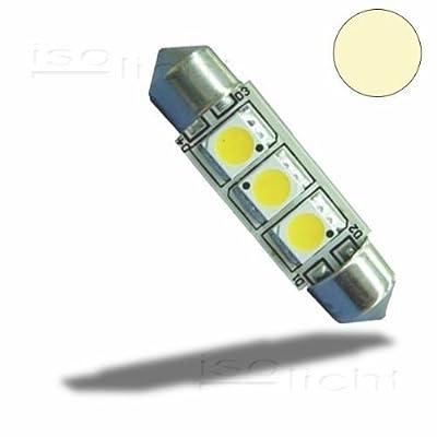 Isolicht LED Soffitte 37mm 10-30V/DC, 3SMD, 0,5Watt, warmweiß von Isolicht - Lampenhans.de