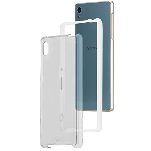 Case-Mate Naked Tough Case für Sony Xperia Z3+ & Z4 - von Sony zertifizierte Schutzhülle [Extrem robust | Stoßabsorbierend | Transparent | Hybrid | Tasten in Metall Optik] - CM032667