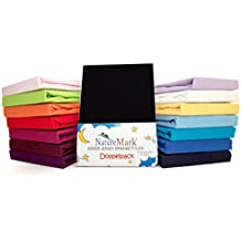 NatureMark 2 Pack de Ahorro Niños – Sábana Bajera Ajustable 100% algodón para Cama Infantil