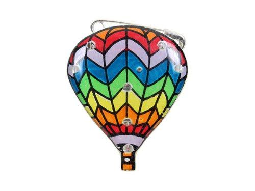 Blinki LED Anstecker Blinky Brosche LED Pin Button viele Motive, wählen:Heißluft Ballon 128