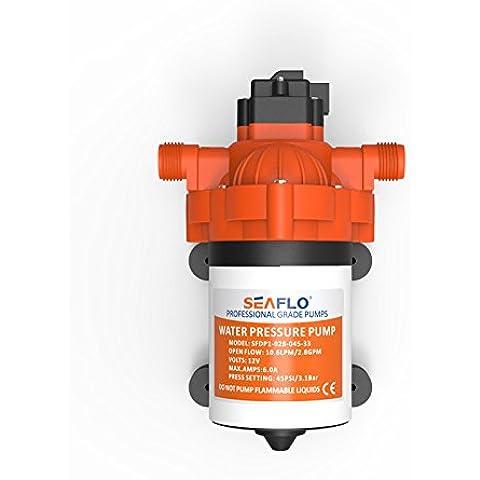 SeaFlo 12V elettrico 2,8GPM a diaframma acqua pompa a pressione con interruttore automatico autoadescante per Marine barca camper caravan