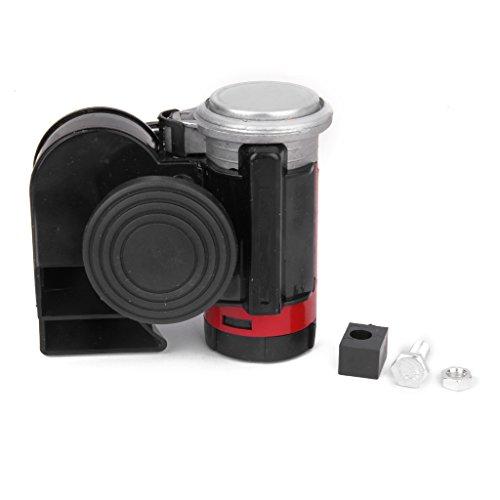 Generic 12V Electricity Machine Air Pump Horn Dual Tone for Car Truck Black