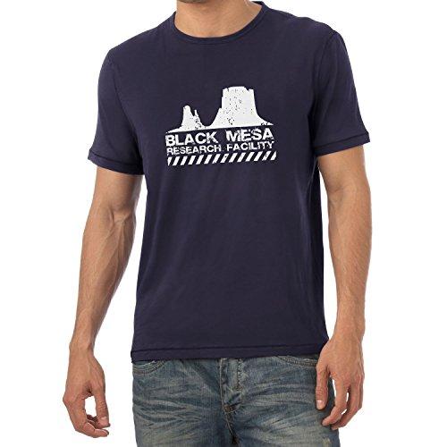 Texlab Black Mesa Research Facility - Herren T-Shirt, Größe L, navy (Black Mesa-shirt)
