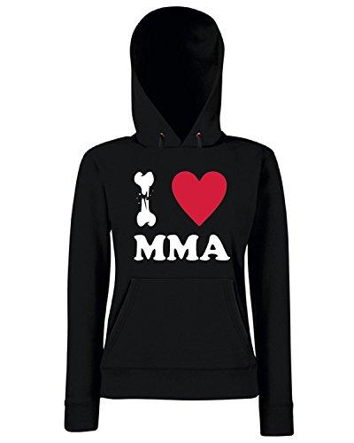 T-Shirtshock - Sweats a capuche Femme TBOXE0083 I LOVE MMA Noir
