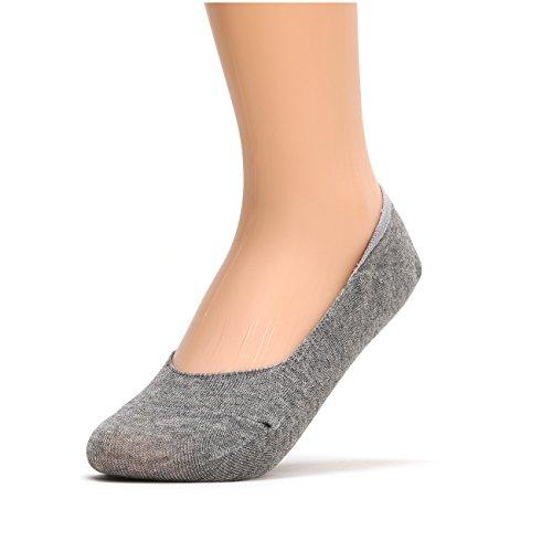 sockstheway Calze antiscivolo no show da donna, taglio basso Liners Grey - 1 Pair 40-42,5
