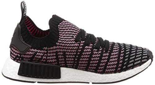 adidas Herren NMD_r1 Stlt Primeknit Sneaker Schwarz (Core Black/Grey Four/Solar Pink 0)