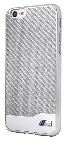 BMW M Collection Coque en carbone/aluminium pour iPhone 6/6S Argent