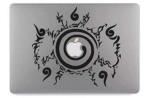 Naruto Chakra Kyuubi Siegel Apple MacBook Air Pro Aufkleber Skin Decal Sticker Vinyl (15