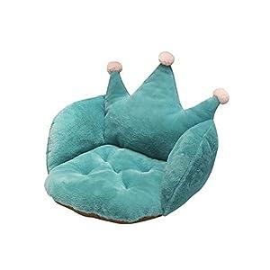 Depruies Plüsch Krone sitzkissen, Stuhl pad unterstützung Taille rückenlehne pad, weichem plüsch Stuhl pad bodenkissen für Home Office Stuhl, autositz, Liege