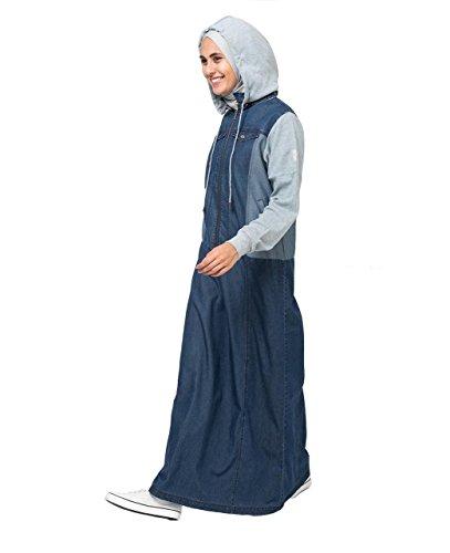 Soft Denim Hooded Jilbab Regular 54