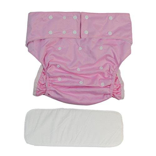 erwachsenen windeln mit folie Homyl Windelhosen Inkontinenz-Windelhose für Erwachsene Baumwollunterwäsche, Waschbar - Rosa