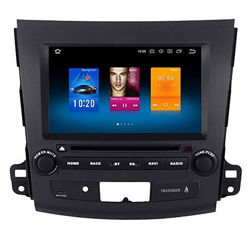 Dasaita 8 Zoll Android 9.0 DAB Autoradio Doppel Din mit 4G RAM 32G ROM für Mitsubishi Outlander 2007 2008 2009 2010 2011 Autoradio Bluetooth USB Unterstützt GPS WiFi 4G Lenkradsteuerung Carplay