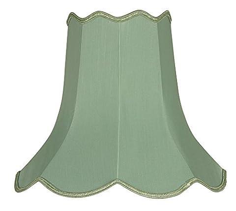 Oaks Lighting 16-inch Faux Silk Scallop Shade, Sage Green
