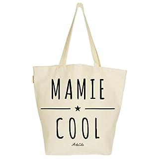 ArteCita Einkaufstasche, groß, bedruckt, Canvas, 37 x 45 x 20 cm, Motiv: Mamie Cool