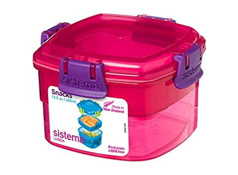 Sistema Lunch Snacks, 400ml - Pink/Purple