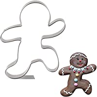 KENIAO Christmas Running Gingerbread Man Cookie Cutter - 3.6 x 4.2 inches - Stainless Steel