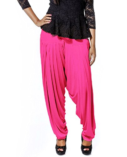 Smartees Pink Color Viscose Patiala Pants for Women (Bottom Wear)