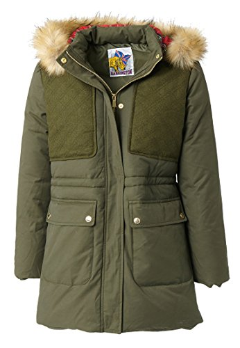 Harrington Parka Femme, Giubbotto Donna, Verde (Kaki), Small