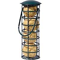 dobar, mangiatoia per uccelli con quattro boccioli di cibo, ricaricabile, nero, plastica, 1 confezione (1 x 370 g)