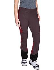 VAUDE Larice Light–Pantalones para mujer, otoño/invierno, mujer, color Rojo - morado grisáceo (Raisin), tamaño 44 [DE 42]