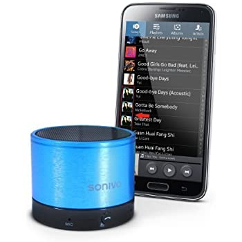 SONiVO SW100 Soundwave Rechargable Portable Bluetooth Speaker - Electric Blue