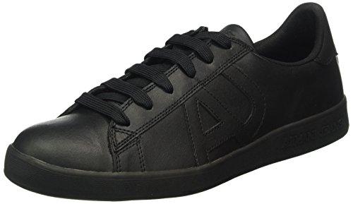 Armani Jeans935565CC500 - Scarpe da Ginnastica Basse Uomo , Nero (Schwarz (NERO 00020)), 43