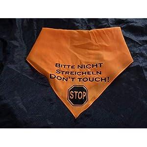 Hundehalstuch Bitte nicht streicheln! Don't touch! Stop!