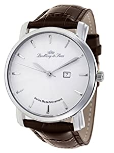 Lindberg & Sons - Reloj automatico para hombre, esfera analogica, correa de cuero LS15SA5 de Lindberg&Sons
