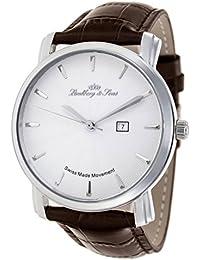 Lindberg & Sons - Reloj automatico para hombre, esfera analogica, correa de cuero LS15SA5