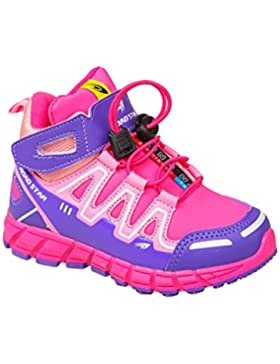 GIBRA® Kinder Sportschuhe, mit Klettverschluss, pink/lila, Gr. 25-36