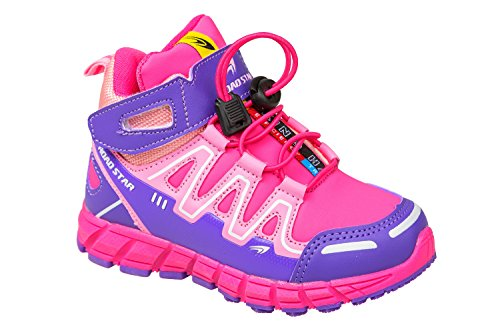 GIBRA® Kinder Sportschuhe, mit Klettverschluss, pink/lila, Gr. 25-36 Pink/Lila