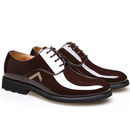 Cuir Hommes Chaussures Décontracté Robe Automne Affaires Mariage Mode Slip Sur Grands Pieds B