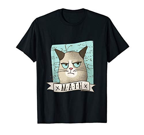Katze Motiv Witzige Student Schule Mathematik Formel T-Shirt T-Shirt