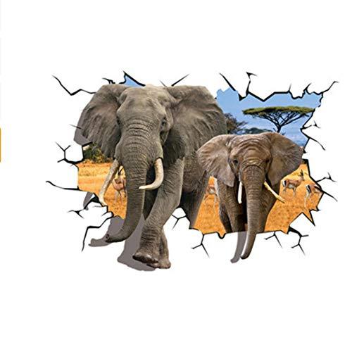 LIWEIXKY Africano Elefantes Animales Antílope Etiqueta De La Pared Poster Dormitorio De...