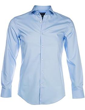 BOSS Hombres Slim Fit camisa de Jerrin Pastel Azul 43