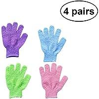 Healifty Nylon-Duschhandschuhe 4 Paar Dusche Peeling Badehandschuhe Scrubbing Handschuhe Duschhandtuch Body Scrub... preisvergleich bei billige-tabletten.eu
