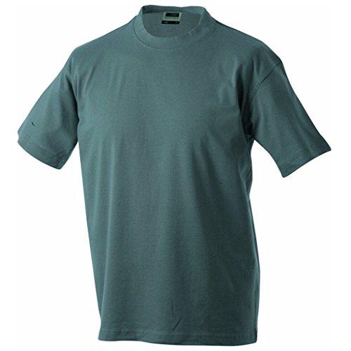 JAMES & NICHOLSON Komfort-T-Shirt aus strapazierfähigem Single-Jersey Dark-Grey