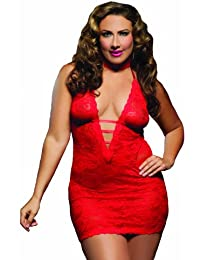 Seven Til Midnight - Nuisette sexy - Femme Rouge rouge Queen Size