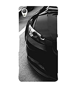 FUSON Sports Car Side View 3D Hard Polycarbonate Designer Back Case Cover for Sony Xperia Z3 :: Sony Xperia Z3 Dual D6603 :: Sony Xperia Z3 D6633