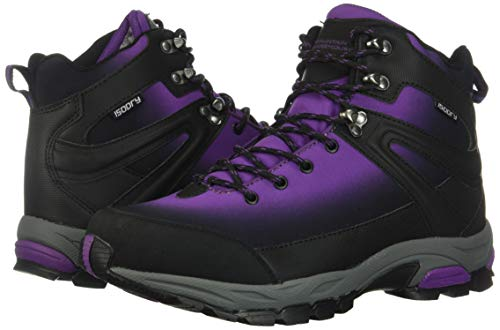Mountain Warehouse Intrepid Womens Waterproof Softshell Hiking Boots - Phylon Midsole, Mesh Lined Shoes, Rubber Outsole -Ladies Footwear for Walking, Camping, Travelling Purple Womens Shoe Size 7 UK