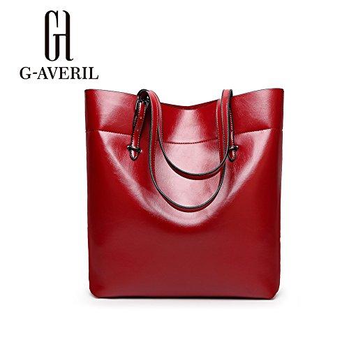 G-AVERIL, Borsa a mano donna Verde Green Red