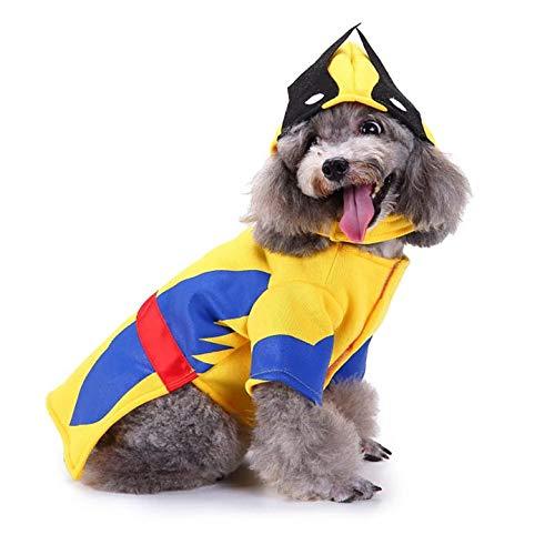 Halloween Kostüm Wolverine - King Swell Halloween-Kostüm Wolverine für Hunde und Katzen, lustiges Haustier Cosplay kaltes Wetter Mäntel Kleidung Herbst Jumpsuit, S