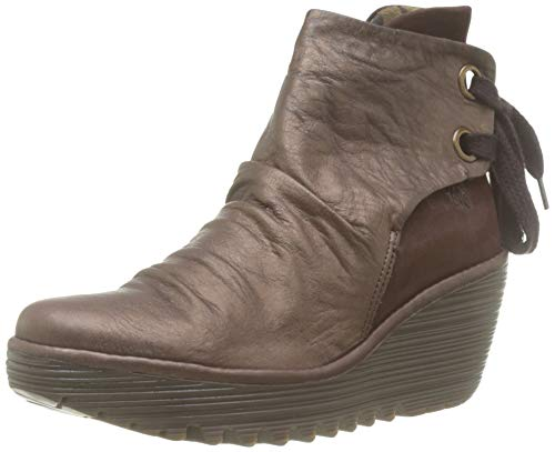 Fly London Yama, Botines para Mujer, Marrón Dk Brown/Dk Brown 062, 37 EU