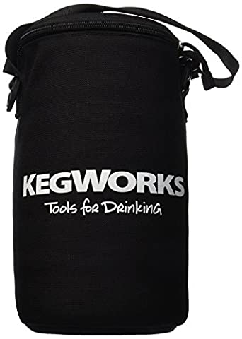 KegWorks Insulated Beer Growler Bag, Black